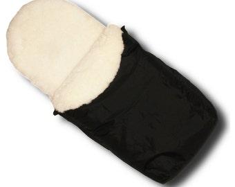 Waterproof Sheepskin Footmuff - White Fur