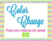 Color Change to An Item In My Shop