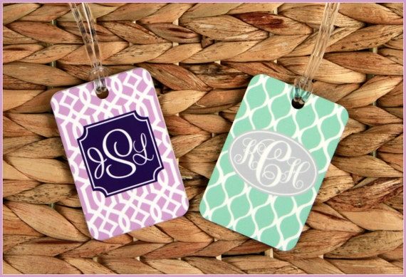 Christmas Gift for Family Bag Tags Monogram Luggage Tag Custom Monogrammed Gifts Gym Bag Luggage Tags Personalized Custom Gifts Bridal Party