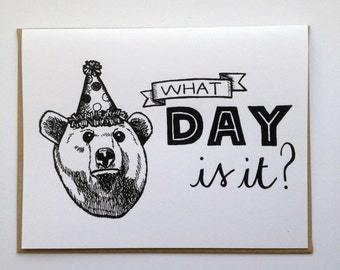 It's your BEAR-thday! - Hand Lettered Greeting Card