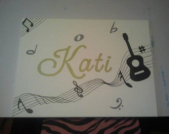 Music name painting