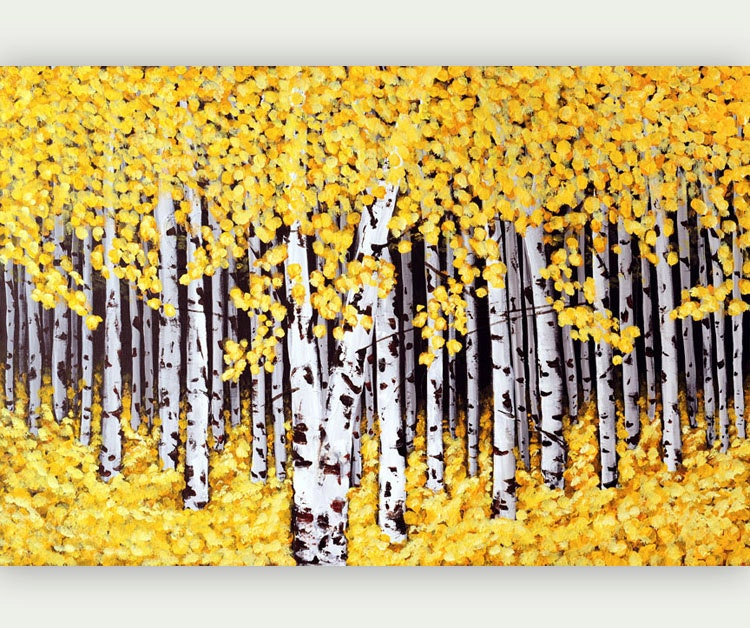Amazing 30+ Birch Tree Wall Art Design Inspiration Of Best 25+ Birch ...