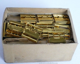 60 New Old Stock Brass Buckles 1920s, for Vests etc.