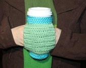 Travel Coffee Mug Cozy Crochet Sleeve With Hand Warming Pocket | Coffee Lover Gift | Eco Friendly Gift Ideas | Pocket Mug Cozy | Starbucks