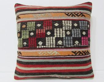kilim pillow 18x18 characteristic bohemian decor bohemian turkish pillow cover bright kilim pillow selected floor cushion boho pillow 20407