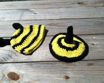 Bumble Bee costume - Halloween costume - Newborn Bumble Bee Photo Prop - baby bumble bee hat - newborn bumble bee costume  - baby bumble bee