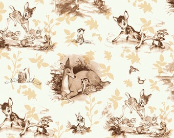 Disney Bambi Cotton Fabric by Springs Creative! [Choose Your Cut Size]