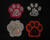 CUSTOM DOG PIN-Paw Print-Dog Tag-Wearable Magnetic-Swarovski Crystal