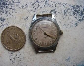 Vintage Man Wrist Watch Raketa Petrodvoretz / Russian Original mechanical wrist watch with Rare Spider dial / collectible watch /