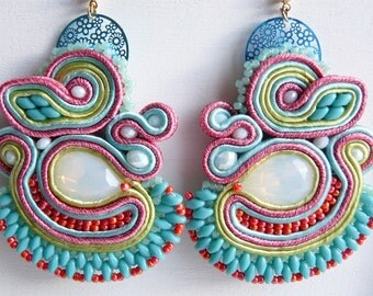 Soutache earrings with superduo