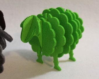 Clever Irish Hand Made  3D Sheep Shape Felt Coaster Quirky Gadget
