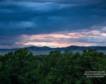 Southwest Photography, New Mexico Print, Pastel Landscape, Nature Print, Taos, Landscape Southwest, Mountain Art, Soft Colors, Fine Art Sky