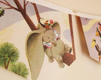 Vintage Dumbo  Book Bunting