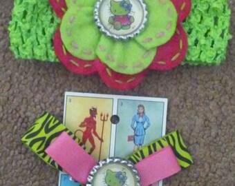 Zombie Hello Kitty inspired Headband or bow