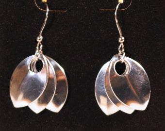 Triple Scale Earrings - Aluminum