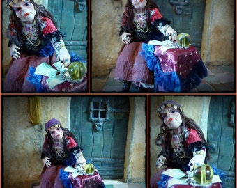 Gypsy fortune teller to 1/12 scale dollhouse