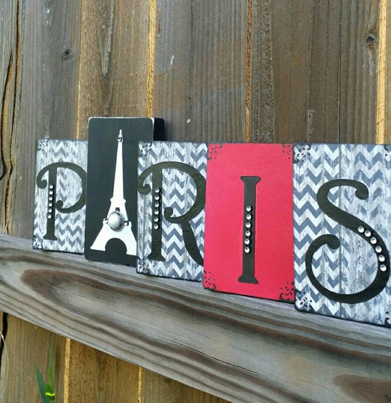Items similar to paris eiffel tower bedroom decor wood for Decorative stuff for bedroom