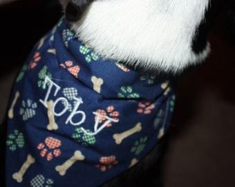 Dog/Puppy Collar Scarf  XS-XXL  Name option   Ruff Start Rescue Benefit