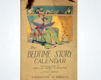 Book, Vintage, Bedtime Stories Calendar for Little People, 1915