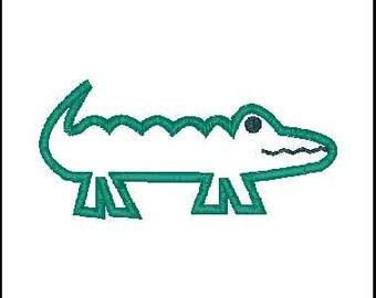 alligator embroidery applique alligator embroidery design