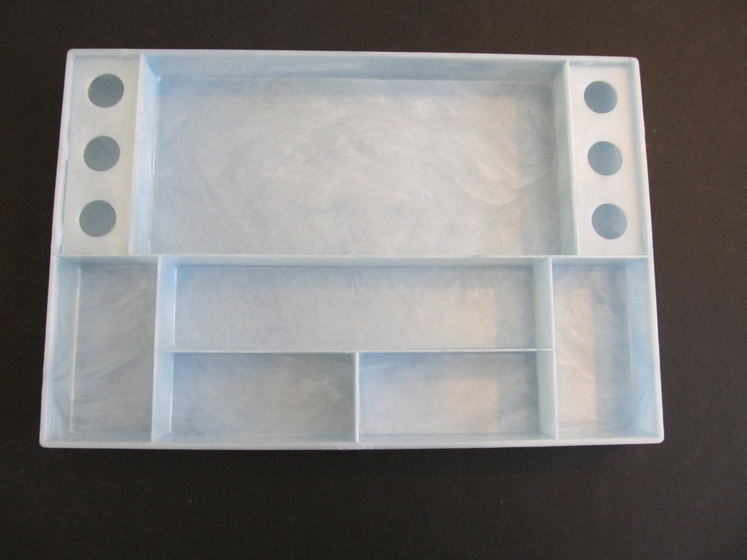 Vintage Vanity Tray Blue Vanity Tray Cosmetic Tray Drawer