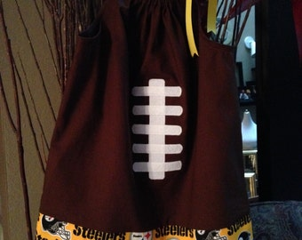 Pittsburgh Steelers Football themed 3T Toddler Pillowcase Dress