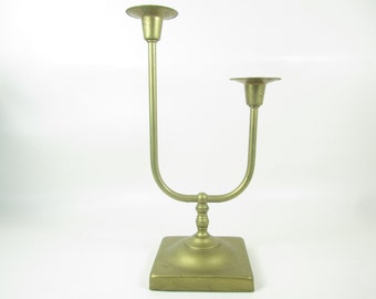 CANDLE HOLDER, Brass candle stick,Brass Centerpiece,double candle stick, Shabby Chic Candle Holder, brass candle holder,wedding,antique,lite