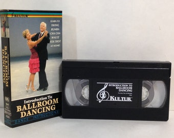 Introduction To Ballroom Dancing VHS Tape Dance Instructional Video 1988 Kultur Learn to Swing Rumba Cha Cha Waltz Fox Trot at home.