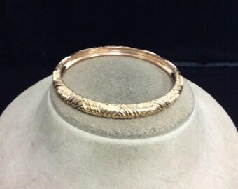 Vintage Goldtone Etched Bangle Bracelet