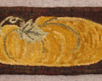 Elongated Pumpkin Rug Hooking Pattern