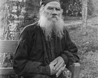 Russian Author Leo Tolstoy 1897 Photo Print