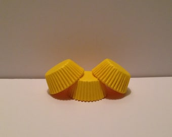 Mini Yellow Grease Resistant cupcake liners/baking cups- 50 count