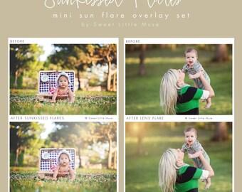 Sun Flare Overlays for Photoshop - photoshop overlays - sunkissed sun flare and bokeh overlays