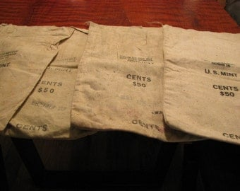 4 Vintage US Mint Money Bags