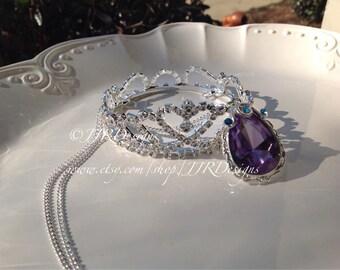 Princess Sofia Inspired Girl Necklace- Sofia Amulet- Sofia The First Necklace-