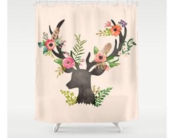 Deer Floral Illustration Portrait Custom Made