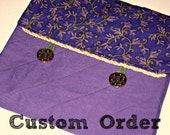 Custom Order for Tracey, FLORAL FABRIC, Quilted Bible Case, Cover, Book Wrap in Purple with Embroidered verse or quote