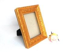 Wedding Picture Frame,4 x 6 Photo Frame,Decorative Photo Frame,Antiqued Gold Picture Frame,Rectangular Gold Picture Frame,Gold Frame 4x6