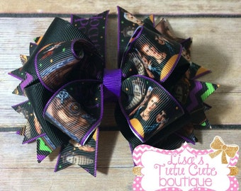 Hocus Pocus Boutique Bow. Stacked Boutique Bow. Halloween Bow