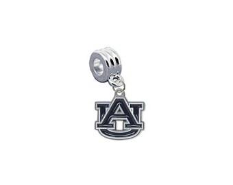 Auburn Tigers European Charm for Bracelet, Necklace & DIY Jewelry