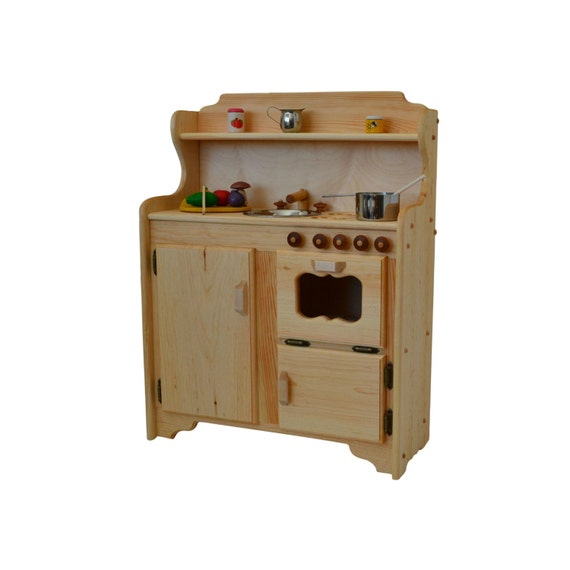 Best Wooden Play Kitchen: Waldorf Play Stove Wooden Toy Kitchen Wooden Play Kitchen