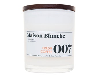 Fresh Coffee Soy Candle. Hand-poured. 80 hr burn time.