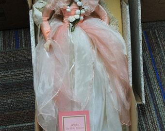 Franklin Heirloom Porcelain Doll Sonia The Rose Princess