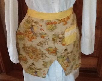 Holiday reversible bloomer apron