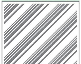 Echo Park Paper DOTS & STRIPES Diagonal Stripes 6x6 Stencil - New!