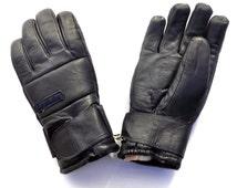 Ski gloves leather Invicta vintage 80s