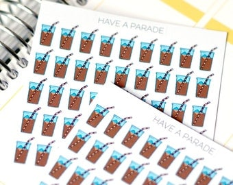 45 Iced Coffee Cup Stickers for your Erin Condren Life Planner