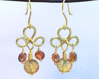 Honeybow Chandelier Earrings