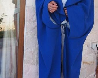 Wool  Cashmere Coat Аsymmetric Coat Plus Size Long Wool Cardigan & Nara PG001