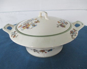 Vintage Crooksville China Covered Vegetable Bowl With Handles Ivora #928 Collectible Replacement China  Casserole Bowl Soup Tureen